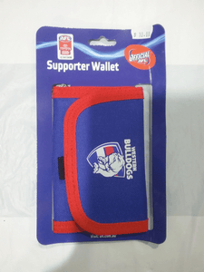 Footy Plus More WALLET Western Bulldogs Velcro Wallet
