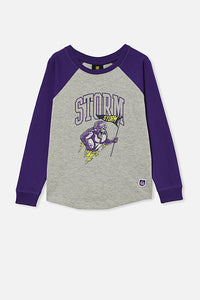 Melbourne Storm Kids Raglan Long sleeve Top