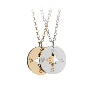 Going Places Compass Necklace: Itsy Bitsy Charm Necklace for Women