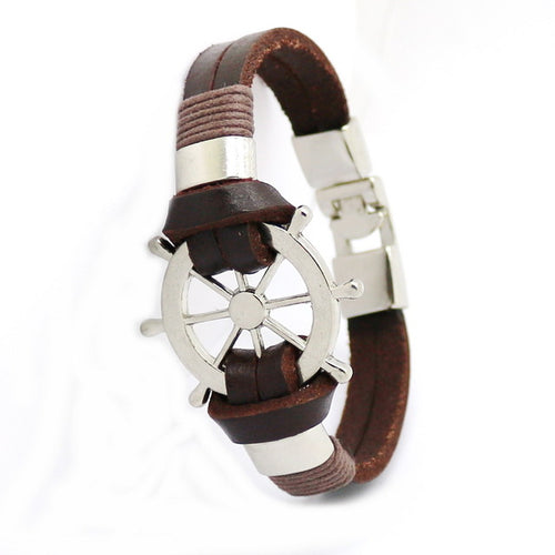 Leather Helm Bracelet