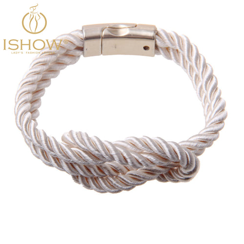 Nautical White Rope Braid Bracelet