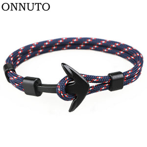 Black Anchor Parachord Bracelet