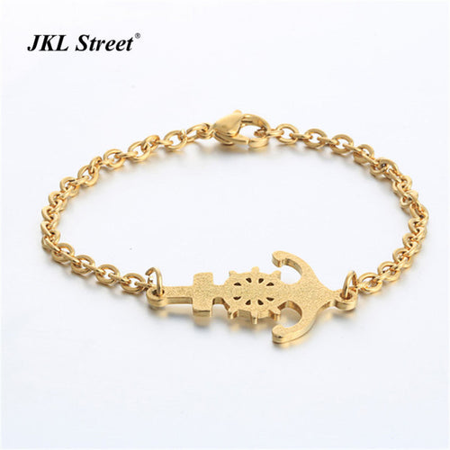 Nautical Gold Ship Anchor Bracelet