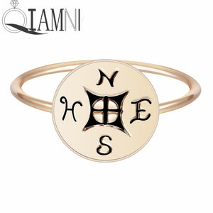 Nautical Compass Ring for Women
