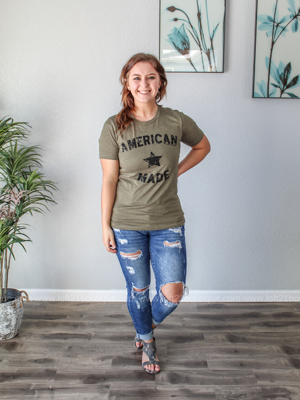 American Made Tee (S-3XL) - Loft21 Boutique