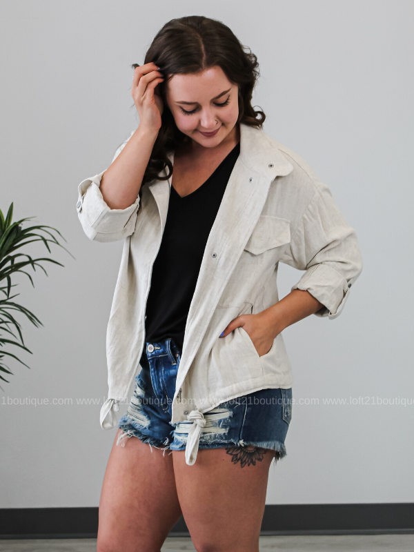 Be Only You Jacket - Oatmeal - Loft21 Boutique