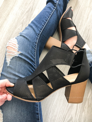 Black Cut-Out Heel