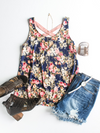 At A Glance Floral Tank - Loft21 Boutique