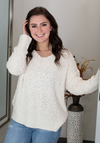 Cream Popcorn Sweater (S-XL)
