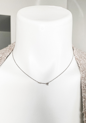 Dainty Arrow Necklace- Silver