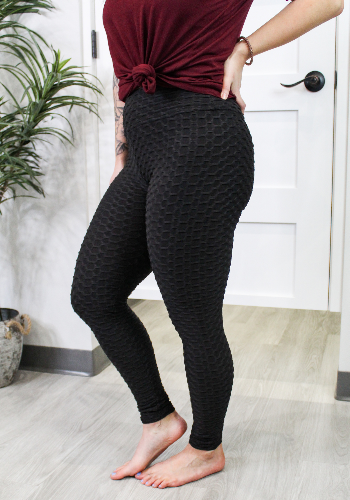 High Waist Scrunch Butt Lifting Leggings- Black