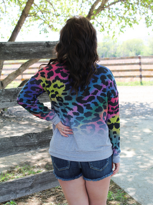 Multicolored Animal Print Pullover (S-XL)