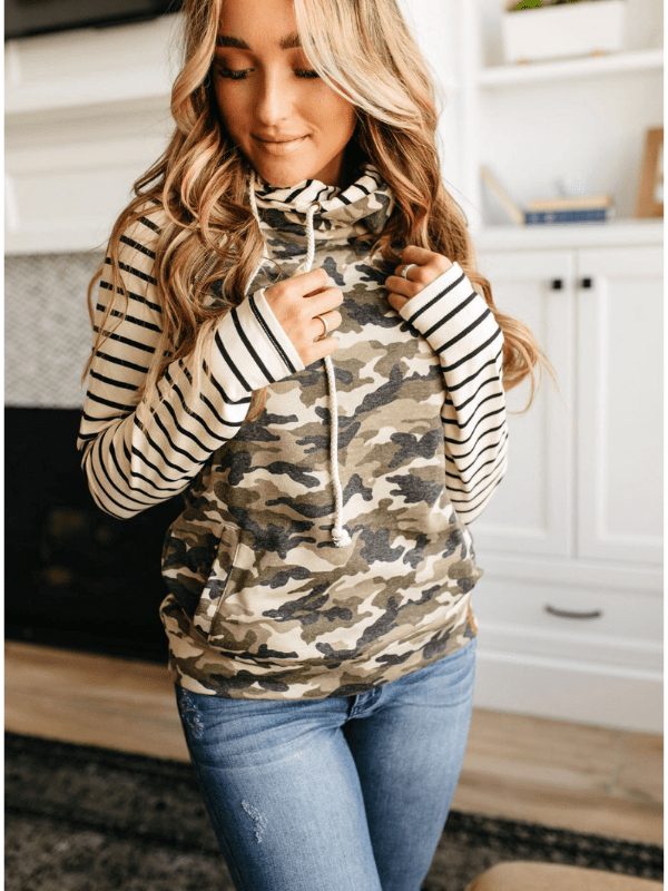 Ampersand Ave- Camo & Stripe - Loft21 Boutique