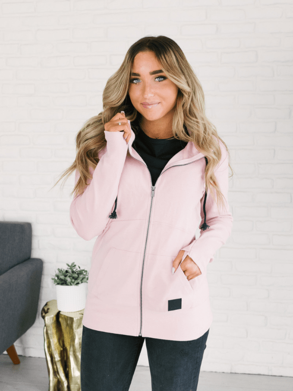 Ampersand Ave Full Zip- Pink - Loft21 Boutique