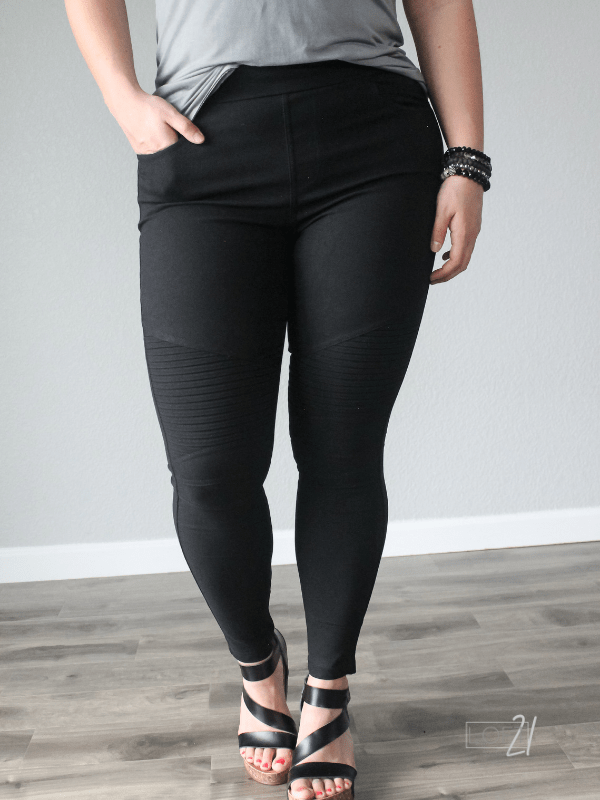 Black Motto Jeggings - Loft21 Boutique