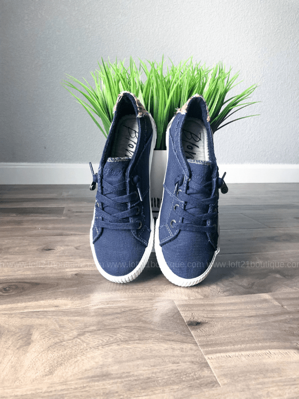 Blowfish Navy Fruit Sneakers
