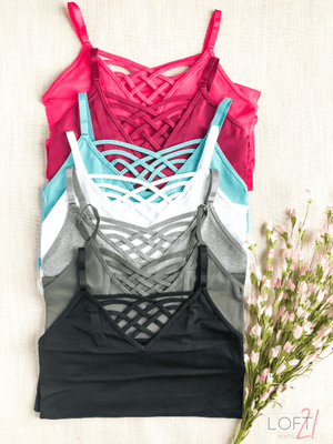 Curvy Criss Cross Camis - New Colors - Loft21 Boutique