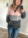 Half-Zip Color Block Hoodie - Loft21 Boutique