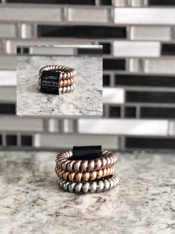 Hotline Hair Ties- Mixed Metals (Luxe Collection) - Loft21 Boutique