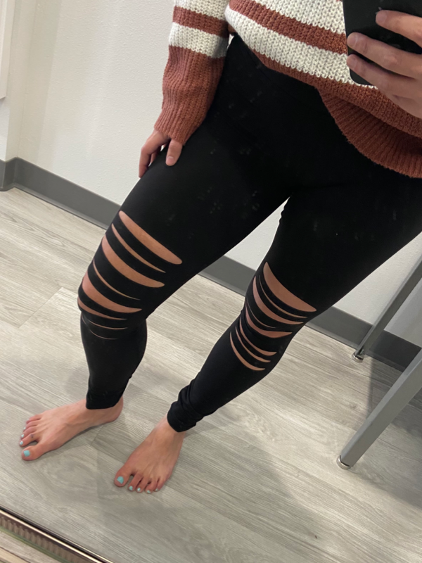 Back To You Black Cut-Out Leggings