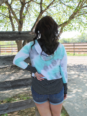 In No Time Tie Dye & Stripe Hoodie