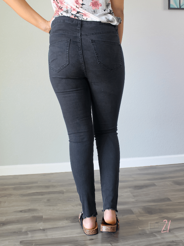 Judy Blue Button Fly Destroyed Raw Hem Skinny - Loft21 Boutique