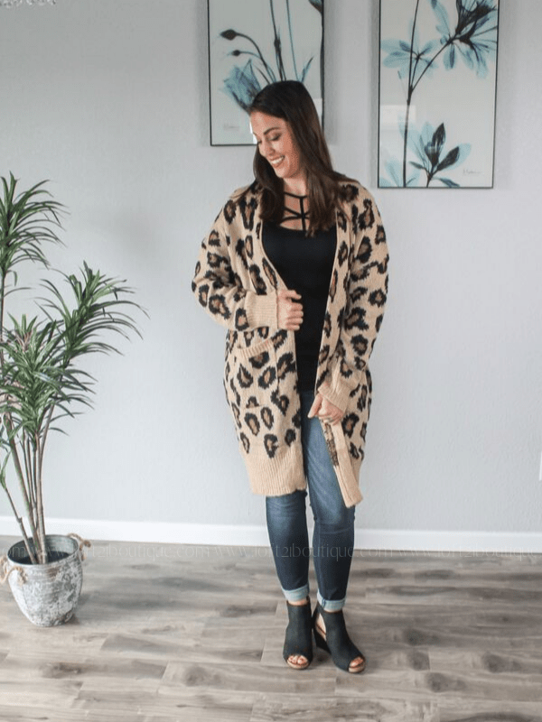 Just Keep Breathing Leopard Cardigan - Loft21 Boutique