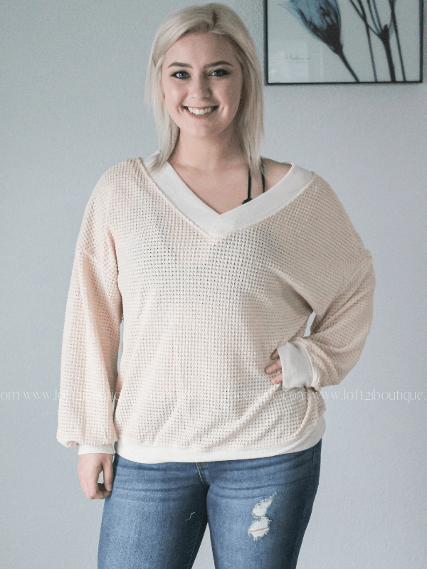 On My Way Long Sleeve Top - Loft21 Boutique