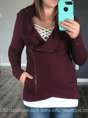 Side Zip Jacket - Multiple Colors - Loft21 Boutique
