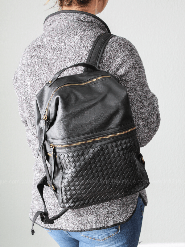 Sophia Backpack- Black - Loft21 Boutique