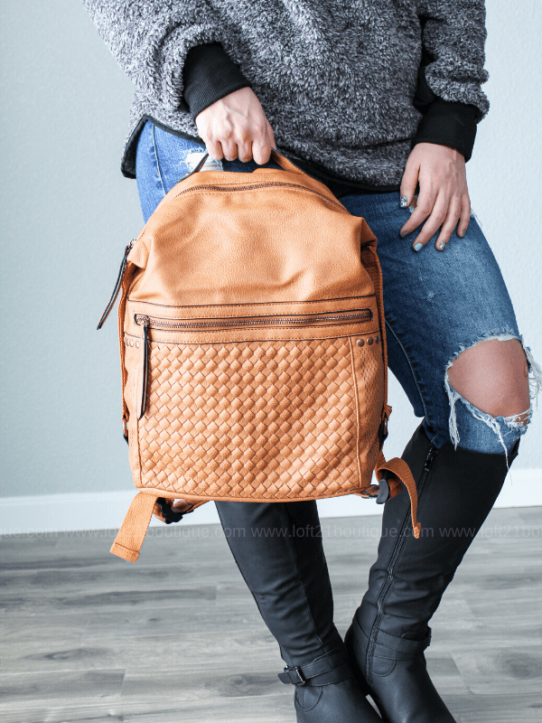 Sophia Backpack - Cognac - Loft21 Boutique