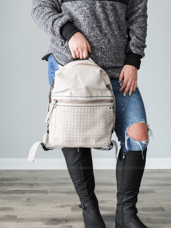 Sophia Backpack- Grey - Loft21 Boutique