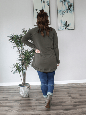 The One You Want Olive Long Sleeve Knit Top - Loft21 Boutique
