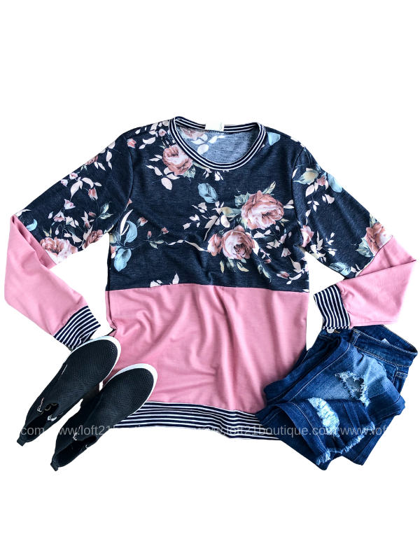 Never Changing Floral Long Sleeve - Loft21 Boutique