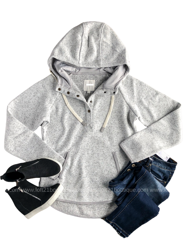 New You Heather Grey Pullover - Loft21 Boutique