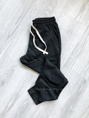 Time To Get Cozy Black Joggers