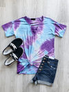 Crazy About You Tie Dye Tee