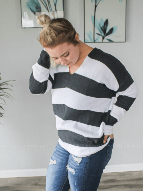 When I'm With You Striped Sweater - Loft21 Boutique