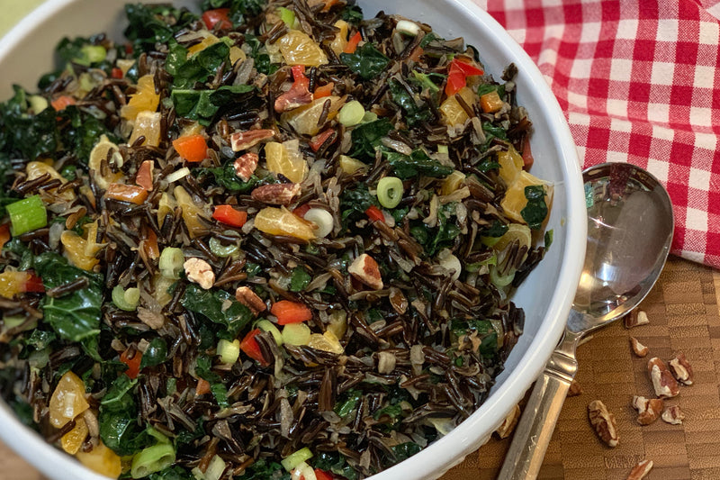 Bowl of Kale & Wild Rice Salad