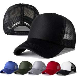 Casual Plain Mesh Baseball Adjustable Snapback Cap