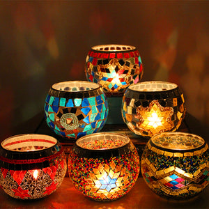 Mosaic Romantic Candle Holder-home accent-wanahavit-A-wanahavit