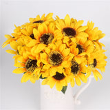 Silk Decorative Sunflower Bouquet-home accent-wanahavit-7 heads big-wanahavit