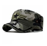Star and Three Stripe Embroided Military Cap-unisex-wanahavit-Camo-One Size-wanahavit