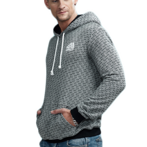 Casual Cotton Grid Pattern Hooded Sweatshirt-men-wanahavit-Gray-M-wanahavit