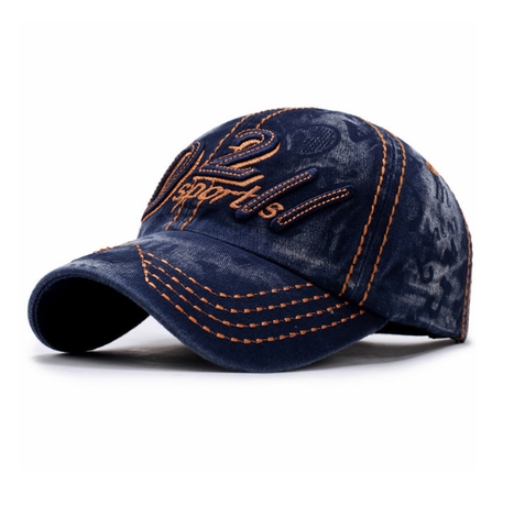 D211 Sports Embroided Baseball Cap-unisex-wanahavit-NAVY BLUE-wanahavit