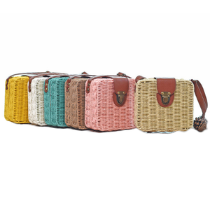 Beach Box Straw Woven Shoulder Bag-women-wanahavit-yellow-wanahavit