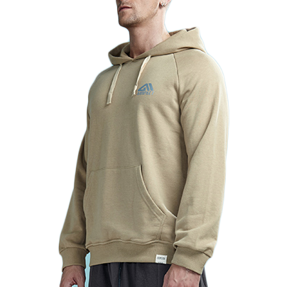 Casual Solid Color Hooded Sweatshirt with Pocket