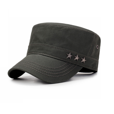 Three Star Military Cap-unisex-wanahavit-ARMY GREEN-wanahavit