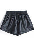 Sexy Loose PU Leather Shorts
