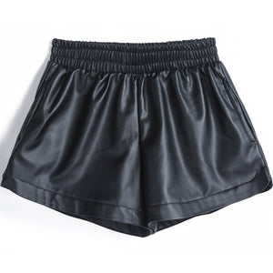 Sexy Loose PU Leather Shorts-women-wanahavit-L-wanahavit